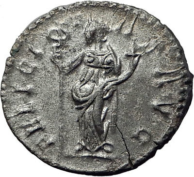POSTUMUS  260AD Silver Authentic Ancient Roman Coin Felicitas GOOD LUCK  i65349