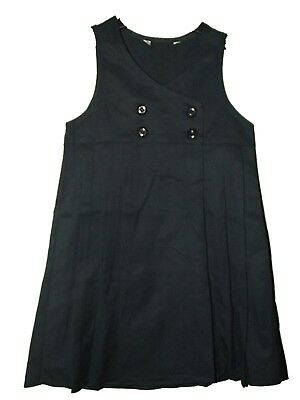 FAB NEW GIRLS EX M & S NAVY CROSSOVER PLEATED SCHOOL PINAFORE TUNIC AGE 3-12 yrs