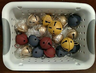 "Lot of 18  Metal Sleigh Bells 2"" Size Loose Bells No Straps - Basket  Excluded"