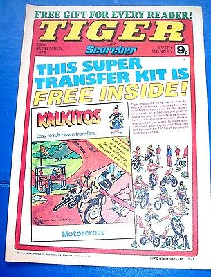 Tiger Comic 23/9/1978  With  Wigan Athletic  Team Centrefold Poster