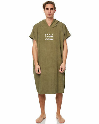 New Swell Men's Hooded Towel Cotton Green