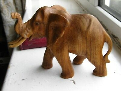 african elephant  wooden sculpture in good condition
