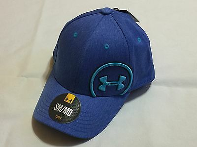 New With Tags Under Armour Youth Boy's Ua Stretch Fit Hats/cap-Sm /med Blue  907
