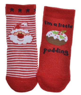 2 pairs of Christmas theme Baby Socks - variety of sizes available