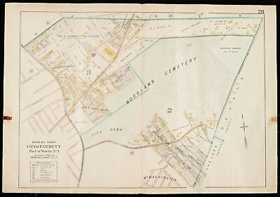1900 Middlesex County Ma, Everett Woodlawn Cemetery Grover St-Brook St Atlas Map