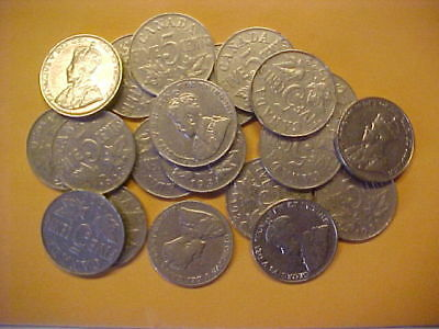 Lot of 20 George V Nickels  various dates in 1920 & 1930 decades