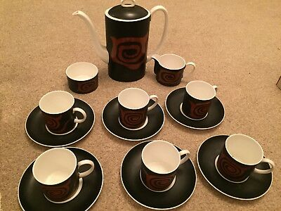 VINTAGE WEDGWOOD BONE CHINA COFFEE CAN SET - SUSIE COOPER DESIGN Great Condition