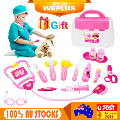 Kids Role Play Doctor Nurse Pretend Toy 15Pcs Medical Set & Hard Carry Tool case