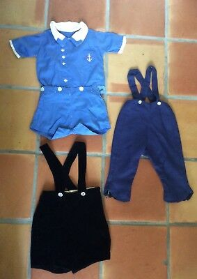 Vintage 1930's 40's 50's Toddler Baby Boys clothes Lot of 3