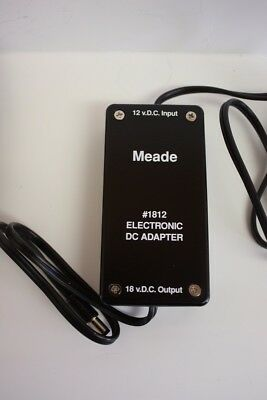 Meade 1812 12 to 18 Volt DC Telescope Car Adapter for LX-200 LX200 Classic