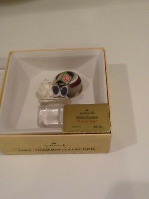 """Frosty Friends """"A Cool Yule"""" 1980 Ornament in Box - Both Books VINTAGE HALLMARK"""