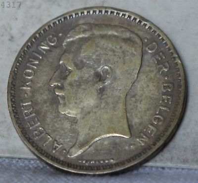 1934 *Silver* Belgium 20 Francs *Free S/H After 1st Item*