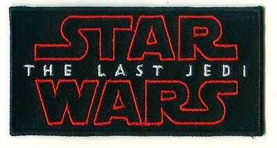🔥 STAR WARS 8 VIII The Last Jedi Movie Logo Iron-on PATCH For Shirt/Cap/Sweater