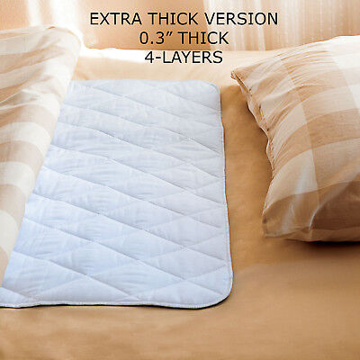 EXTRA THICK Waterproof Incontinence Bed Pad & Sheet Protectors - 34 x 52 inches