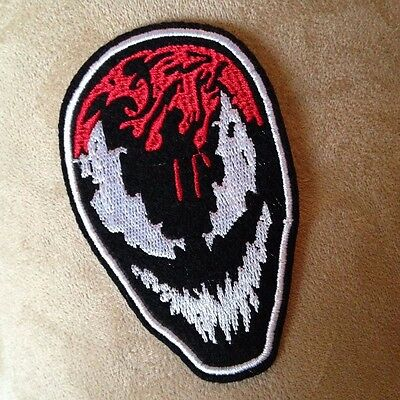 """3.5"""" Spiderman CARNAGE Face Logo Iron-on PATCH! Spider-Man Marvel Comic Book!"""