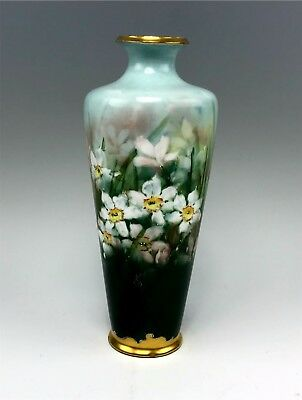 Signed Antique Rosenthal Hand Painted Narcissus Flower Vase