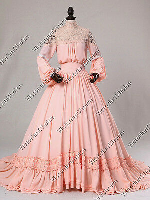 Victorian Edwardian Vintage Christmas Holiday Party Dress Gown Theater 388 S
