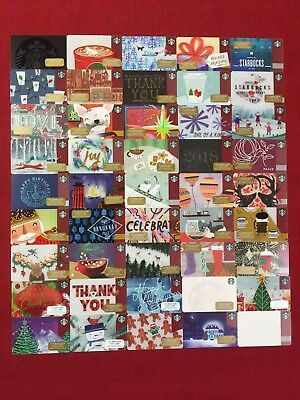 56 New Starbucks 2017 Christmas Holiday Gift Cards/tags Set