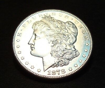 1878-S Morgan Dollar<>Ch Gem Bu Proof-Like