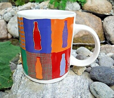 1996 Coca-Cola Mug by Gibson Colorful Bottles 12-oz. *New*