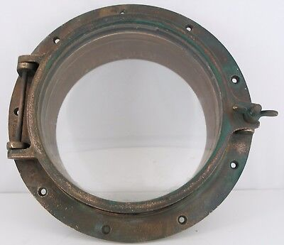 "Porthole bronze 11.5"" porthole, 8"" glass  trim ring Nautical Maritime"
