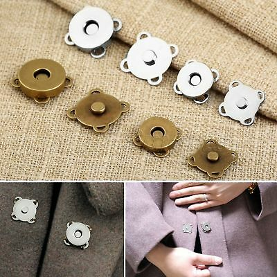 10 Sets Metal Magnetic Buckle Handmade Clothes Bag Purse Sewing Buttons 14/18mm