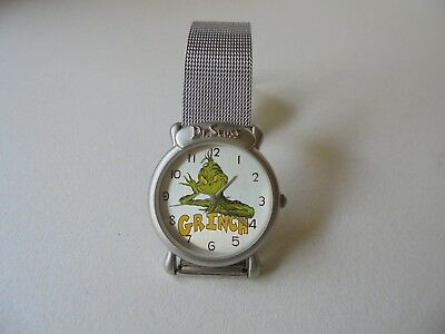 Dr. Seuss 1997 Grinch Tick Tocking Time Tickers Unisex Wrist Watch