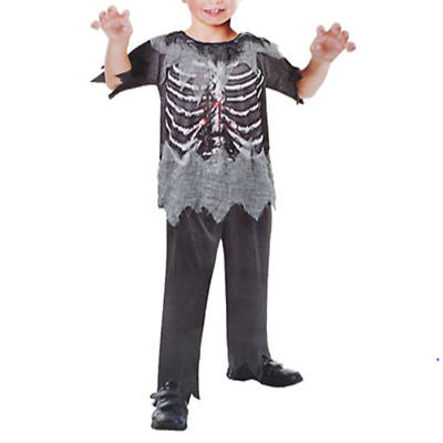 Zombie Halloween Costume For Kids Scary Bloody Horror Cosplay Fancy Dress