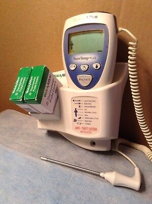 Welch Allen Sure Temp Plus Digital Thermometer With Wall Mount And Probe Covers