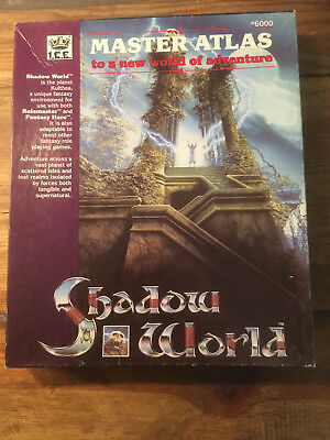 SHADOW WORLD – Master Atlas / I.C.E. + 3 Module (RARITÄT, 1. Edition 1989 !)
