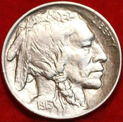 Uncirculated 1913-D Denver Mint Buffalo Nickel Free Shipping