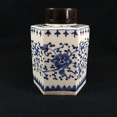 Chinese Export Porcelain Tea Caddy. 19Th/18Th Century. Pristine.