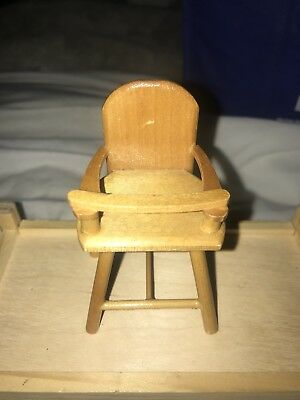 Dolls Baby Cradle And High chair
