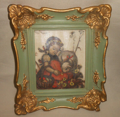Berta Hummel Reproduction Postcard Vintage Framed