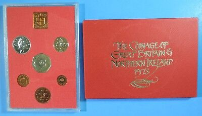 1973 Great Britain Northern Ireland 6 Coin Royal Mint Proof Set England Unc