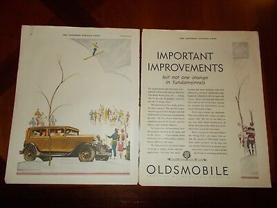 1930 Oldsmobile Double Page Antique Car Magazine Vehicle Ad Photo Print Poster