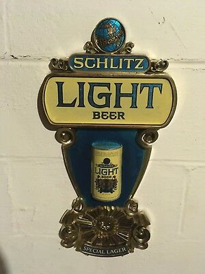 Vintage Collectable 1976 Schlitz Light Beer Wall Sign in 3D