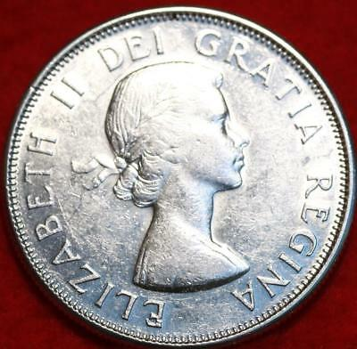 Uncirculated 1962 Canada 50 Cents Silver Foreign Coin Free S/H