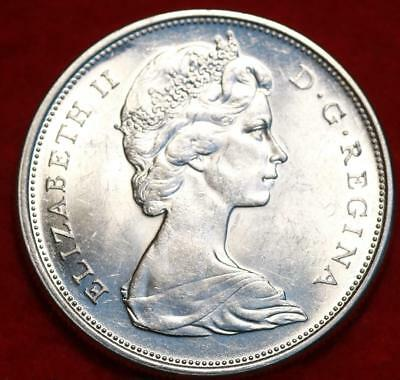 Uncirculated 1965 Canada 50 Cents Silver Foreign Coin Free S/H