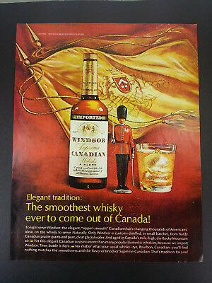 1968 Windsor Canadian Whisky Vintage Magazine Print Ad Advertisement