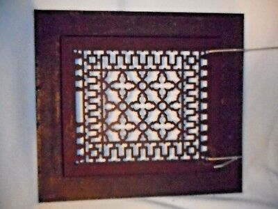 Rare Antique Floor Grate W/Surround-Cast Iron Floor Grate-Decorative Floor Grate