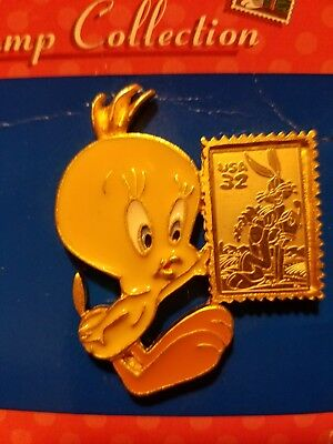 Looney Tunes Tweety Bird Vintage Pin USPS Stamp Collection, Made in USA