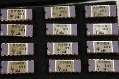 One Nos Hp 1820-0798 6 Decade Counter Gold Pin Ceramic Ic New Old Stock ! Nos  H