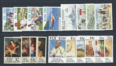 1995 Fiji 4x sets (18 stamps) Mint Hinged