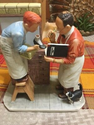 "Norman Rockwell NR 1960-W Year End Count 7.5"" Figurine Gorham Winter 4 Seasons"