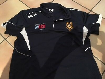 University Of Queensland  Rugby Union Blk Polo Shirt - 2Xl