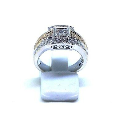 18Ct White Gold Diamond Set Ladies Dress Ring 7.36Grams