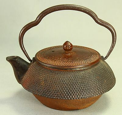 ! Antique Edo 1800s Cast Iron Tea Kettle Japan Tetsubin Chagama Marked  Kauji
