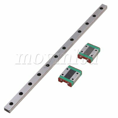 30cm MGN12 Linear Guide Rail Sliding Rail and 2 Sliding Block Silver