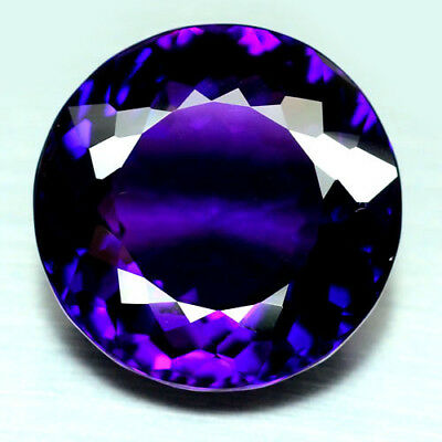 26.99 Ct Aaa! Purple Clr Change To Pink Brazilian Amethyst Round